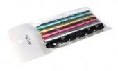 ART Sparkle Brush Covers 5 Pack-Multi Color - колпачки для кистей 5 шт
